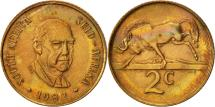 World Coins - South Africa, 2 Cents, 1982, EF(40-45), Bronze, KM:110
