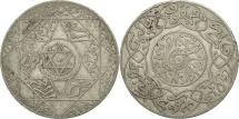 Morocco, 'Abd al-Aziz, 2-1/2 Dirhams, 1897, Paris, EF(40-45), Silver, KM:11.2