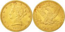 Us Coins - United States, Coronet Head, $10, 1899, Philadelphia, AU(55-58), Gold, KM:102