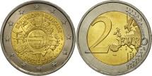France, 2 Euro, 10 years euro, 2012, MS(63), Bi-Metallic