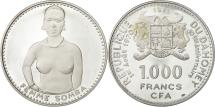 World Coins - Coin, DAHOMEY, 1000 Francs, 1971, MS(63), Silver, KM:4.1
