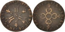 World Coins - France, Louis XIV, Six deniers dits «dardenne», 6 Deniers, 1710, Aix