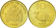 World Coins - GAMBIA, THE, 10 Bututs, 1998, AU(55-58), Brass plated steel, KM:56