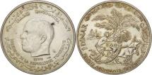 Tunisia, Dinar, 1970, Paris, AU(55-58), Silver, KM:302