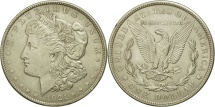 Us Coins - United States, Morgan Dollar, 1921, Philadelphia, EF(40-45), Silver, KM:110