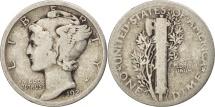 United States, Mercury Dime, Dime, 1920, U.S. Mint, Philadelphia, VF(30-35)