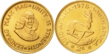 South Africa, 2 Rand, 1978, MS(63), Gold, KM:64