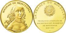 World Coins - France, Medal, Madame de Montespan, MS(63), Vermeil