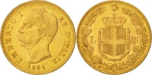 Italy, Umberto I, 20 Lire, 1881, Rome, Gold, KM:21