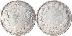World Coins - Coin, France, Cérès, 5 Francs, 1870, Bordeaux, , Silver, KM:818.2