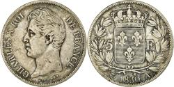 World Coins - Coin, France, Charles X, 5 Francs, 1830, Paris, , Silver, KM:728.1
