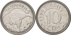 World Coins - Brazil, 10 Cruzeiros Reais, 1994, , Stainless Steel, KM:628