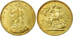 World Coins - Coin, Great Britain, Victoria, Sovereign, 1887, London, , Gold, KM:767