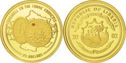 World Coins - Liberia, 25 Dollars, 2002, American Mint, MS(65-70), Gold, KM:669