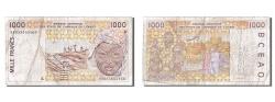 World Coins - West African States, 1000 Francs, 1996, KM #411Df, AU(50-53), K 98053655360