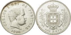 World Coins - Coin, Portugal, Carlos I, 500 Reis, 1896, , Silver, KM:535