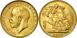 Ancient Coins - Coin, INDIA-BRITISH, George V, Sovereign, 1918, Bombay, , Gold, KM:525A