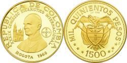 World Coins - Coin, Colombia, 1500 Pesos, 1968, Bogota, , Gold, KM:235