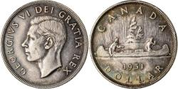 World Coins - Coin, Canada, George VI, Dollar, 1951, Royal Canadian Mint, Ottawa,