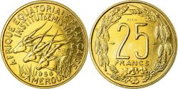 World Coins - Coin, Cameroon, 25 Francs, 1958, Paris, ESSAI, , Aluminum-Bronze
