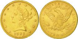 Us Coins - Coin, United States,Coronet Head,$10,1893, Philadelphia, Gold, , KM 102
