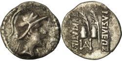 Ancient Coins - Coin, Baktrian Kingdom, Eukratides I, Obol, 170-145 BC, , Silver, SNG