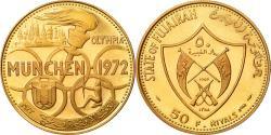 World Coins - Coin, FUJAIRAH, Muhammad bin Hamad al-Sharqi, 50 Riyals, 1969, , Gold