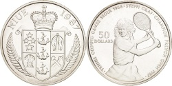 World Coins - NIUE, 50 Dollars, 1987, KM #6, , Silver, 27.10
