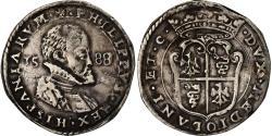World Coins - Coin, ITALIAN STATES, Philipp II of Spain, 1/2 Scudo, 1588, Milan,