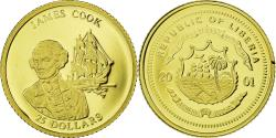 World Coins - Coin, Liberia, James Cook, 25 Dollars, 2001, , Gold