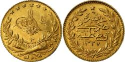 Ancient Coins - Coin, Turkey, Muhammad V, 25 Kurush, 1911, Qustantiniyah, , Gold