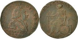 World Coins - Coin, Great Britain, Halfpenny Token, 1795, Middlesex, EF(40-45), Copper