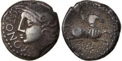 Ancient Coins - Coin, Santones, Denarius SANTONOS, Ist century BC, , Silver