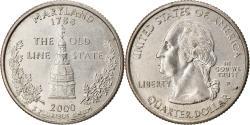 Us Coins - Coin, United States, Maryland, Quarter, 2000, Philadelphia, , Gold