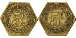 World Coins - France, 5 Centimes, , Brass, Elie #30.3, 2.50