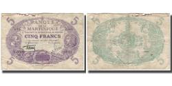 World Coins - Martinique, 5 Francs, F(12-15), KM:6
