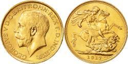 World Coins - Coin, Australia, George V, Sovereign, 1917, Sydney, MS(60-62), Gold, KM:29
