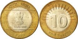 World Coins - INDIA-REPUBLIC, 10 Rupees, 2009, KM #363, , Bi-Metallic, 27, 7.62