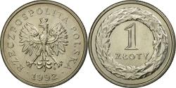 World Coins - Coin, Poland, Zloty, 1992, Warsaw, , Copper-nickel, KM:282