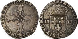 World Coins - Coin, France, Henri IV, 1/4 d'écu à la croix feuillue de face, 1595, Bayonne