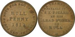 World Coins - Coin, Great Britain, Hull Lead Works, Penny Token, 1812, Hull, EF(40-45), Copper