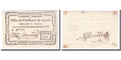 World Coins - France, 15 Sols, Undated (1791-92), FLECHE, AU(55-58)