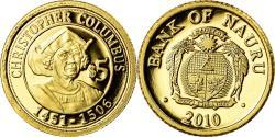 World Coins - Coin, Nauru, Christophe Colomb, 5 Dollars, 2010, , Gold