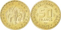 World Coins - MALI, 50 Francs, 1975, KM #E1, , Nickel-Brass, 3.95