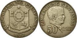World Coins - Coin, Philippines, 50 Sentimos, 1972, , Copper-Nickel-Zinc,  KM:200