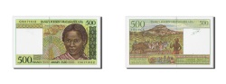 World Coins - Madagascar, 500 Francs = 100 Ariary, Undated (1994), KM:75b, UNC(65-70)
