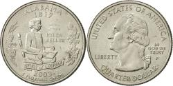 Us Coins - United States, Quarter, Alabama, 2003, U.S. Mint, Philadelphia, AU(55-58)