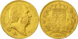 Ancient Coins - Coin, France, Louis XVIII, 20 Francs, 1817, Lille, EF(40-45), Gold, KM 712.9