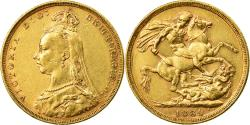 World Coins - Coin, Australia, Victoria, Sovereign, 1889, Melbourne, , Gold, KM:10