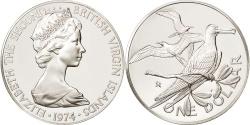 World Coins - BRITISH VIRGIN ISLANDS, Elizabeth II, Dollar, 1974, Franklin Mint, U.S.A.